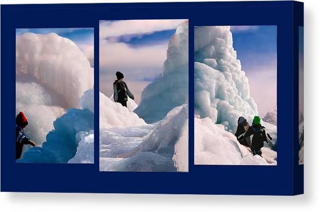 Landscape Canvas Print featuring the photograph The Explorers by Steve Karol