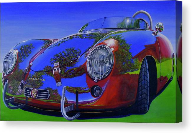 Car Canvas Print featuring the painting Tub Effects by Lynn Masters