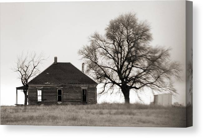 Texas Canvas Print featuring the photograph West Texas Winter by Marilyn Hunt