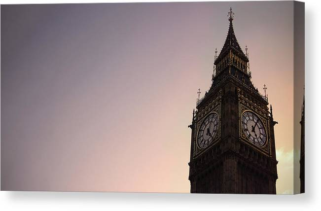 Clock Tower Canvas Print featuring the photograph Big Ben Clock Tower by Sherif A. Wagih (s.wagih@hotmail.com)