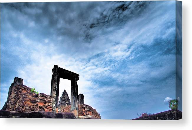 Cambodian Culture Canvas Print featuring the photograph Angkor by Cjfan