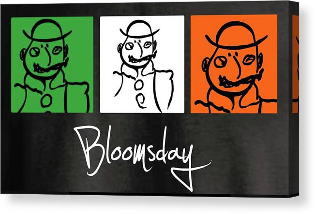 James Joyce Ulysses Bloomsday Canvas Print featuring the drawing Bloomsday by Roger Cummiskey