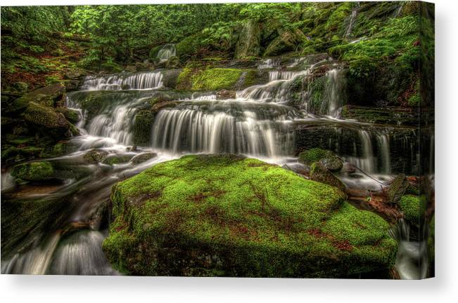 Scenics Canvas Print featuring the photograph Catskill Waterfall by Kevin A Scherer