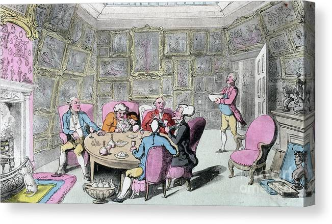 Rubbing Alcohol Canvas Print featuring the drawing Doctor Syntax With My Lord, Early 19th by Print Collector