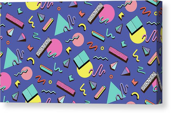 Cool Attitude Canvas Print featuring the digital art Illustration For Hipsters Style by Fighter francevna