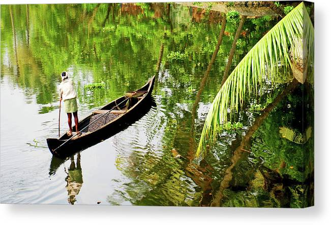 Scenics Canvas Print featuring the photograph Kerala Backwaters by Gopan G Nair