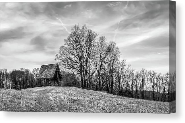 Nature Canvas Print featuring the photograph Observation Building in Poets Walk Park - Red Hook, NY by Tom Romeo