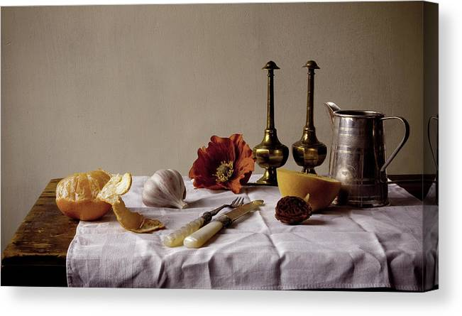 Orange Canvas Print featuring the photograph Old Kitchen Still Life by Pch