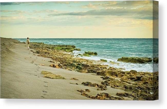 Beach Canvas Print featuring the photograph Prophecy by Steve DaPonte