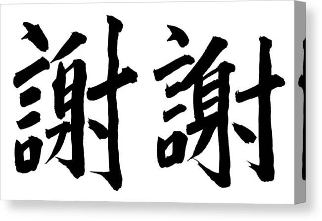 Thank You Canvas Print featuring the photograph Thank You In Chinese by Blackred