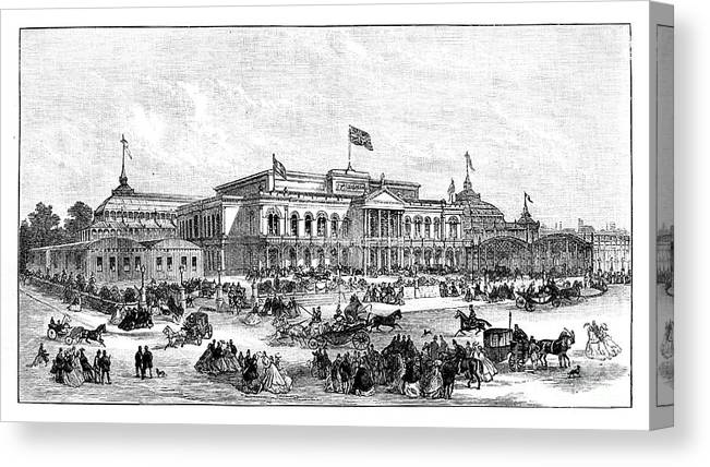 Event Canvas Print featuring the drawing The International Exhibition, Dublin by Print Collector