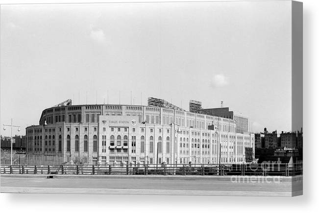 American League Baseball Canvas Print featuring the photograph Yankee Stadium by Olen Collection