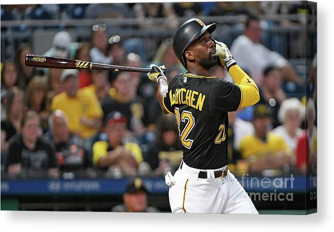 People Canvas Print featuring the photograph Andrew Mccutchen by Justin Berl