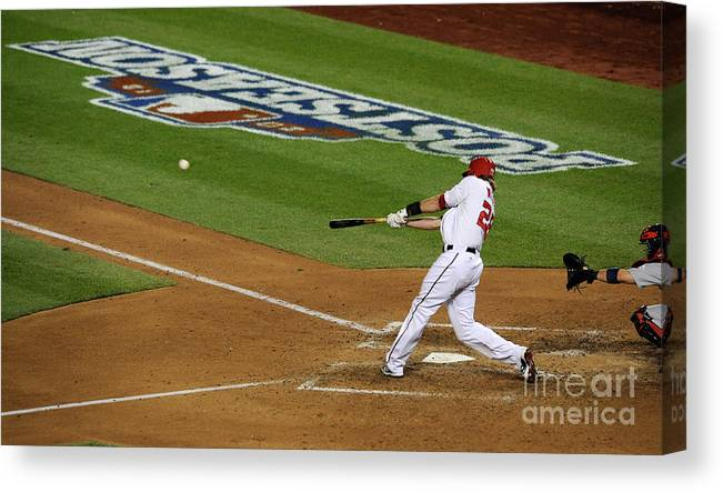 Playoffs Canvas Print featuring the photograph Jayson Werth by Patrick Mcdermott