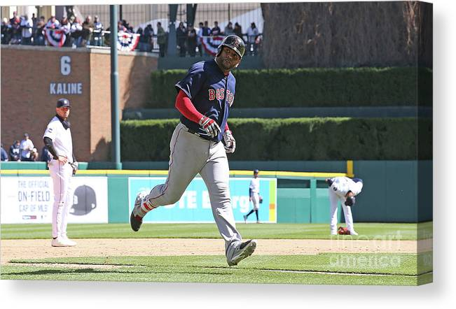 People Canvas Print featuring the photograph Pablo Sandoval by Leon Halip
