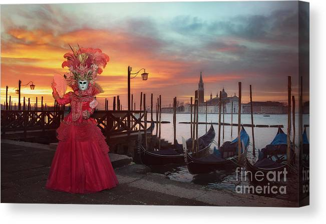 Carnival Canvas Print featuring the photograph Venice Carnival by Linda D Lester