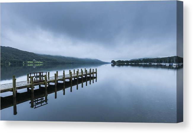 Dawn Canvas Print featuring the photograph Coniston Water at dawn by © Ian Laker Photography