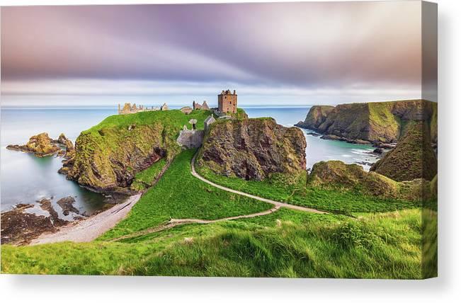 Dunnottar Castle Canvas Print featuring the photograph Dunnottar Castle 2021 by Grant Glendinning