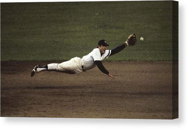 1980-1989 Canvas Print featuring the photograph Graig Nettles by Ronald C. Modra/sports Imagery