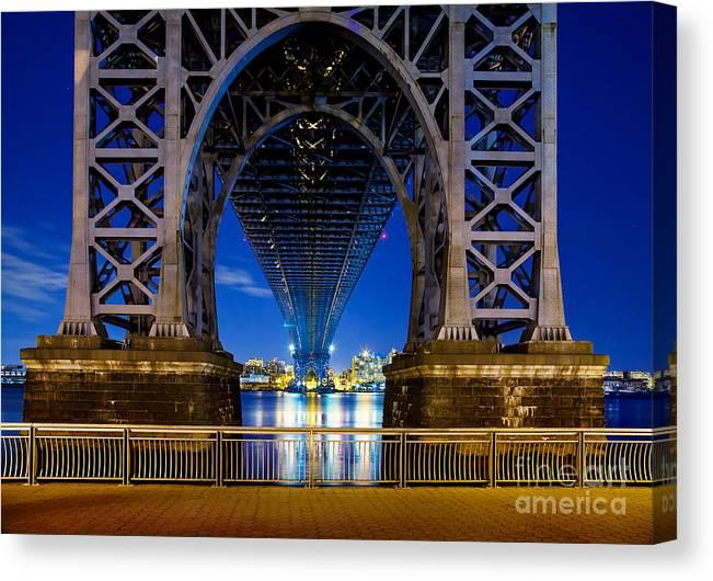 Williamsburg Bridge Canvas Print featuring the photograph Blue Punch by Az Jackson