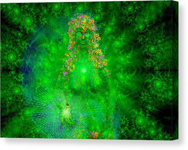Gaia Canvas Print featuring the painting Gaia by Robby Donaghey
