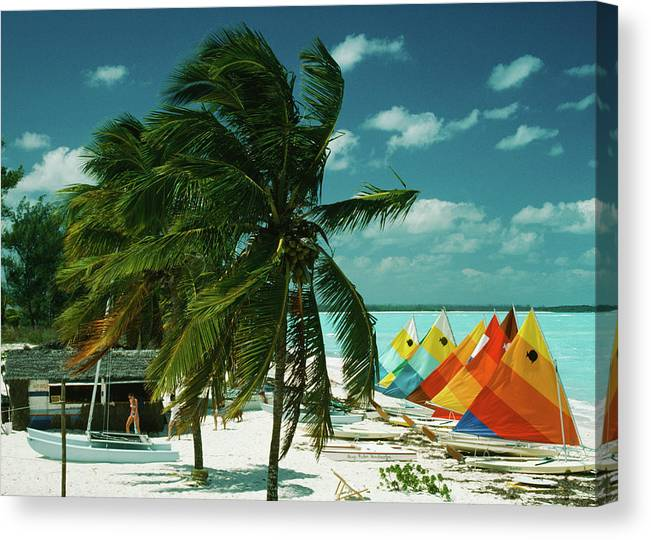 1980-1989 Canvas Print featuring the photograph Treasure Cay by Slim Aarons