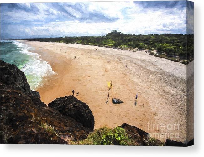 Fingal Beach Canvas Print featuring the photograph Fingal Beach by Sheila Smart Fine Art Photography