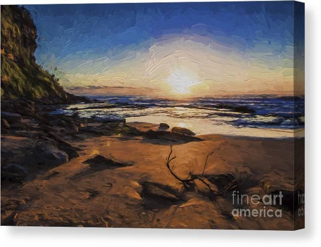 Bungan Beach Canvas Print featuring the photograph Bungan Beach sunrise by Sheila Smart Fine Art Photography