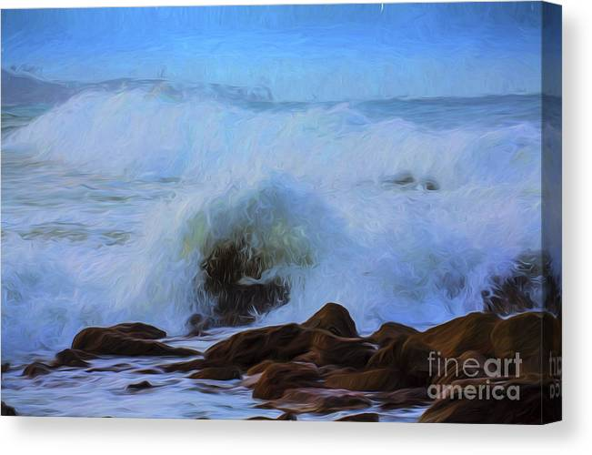 Crashing Waves Canvas Print featuring the photograph Crashing waves by Sheila Smart Fine Art Photography