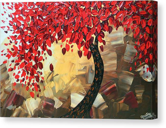 Art Canvas Print featuring the painting Crimson Beauty by Christine Bell