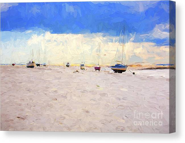 Yachts Canvas Print featuring the photograph High and dry by Sheila Smart Fine Art Photography