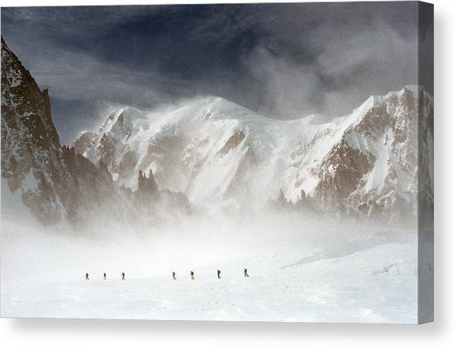 Mont Blanc Canvas Print featuring the photograph Mont Blanc by Andrea Gabrieli