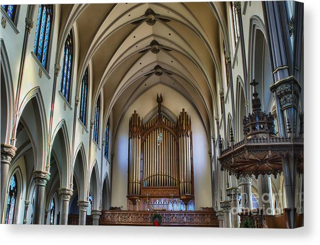 Canvas Print featuring the photograph St Louis Church 13 by Chuck Alaimo