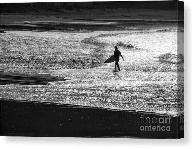 Surfer Canvas Print featuring the photograph Last wave by Sheila Smart Fine Art Photography