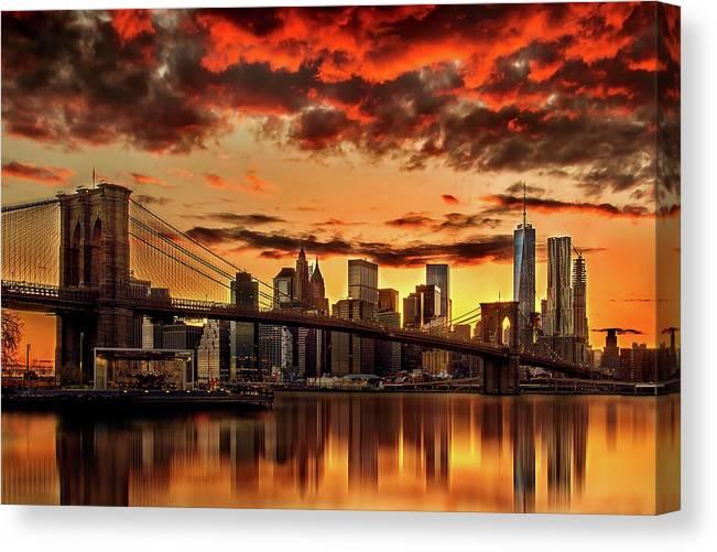New York City Canvas Print featuring the photograph Manhattan BBQ by Az Jackson
