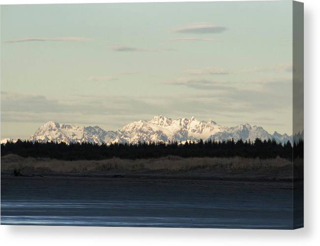 Olympic Mountains Canvas Print featuring the photograph Olympic Mountains by Cheryl Day