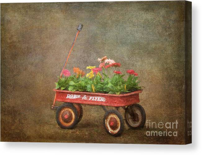 Spring Red Wagon 1 by Jayne Carney