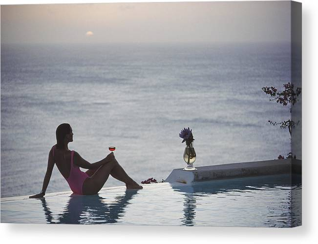 Tranquility Canvas Print featuring the photograph Mustique Tranquility by Slim Aarons