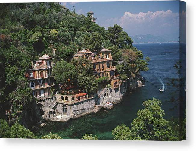 1980-1989 Canvas Print featuring the photograph Portofino by Slim Aarons