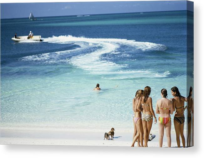People Canvas Print featuring the photograph Lyford Cay by Slim Aarons