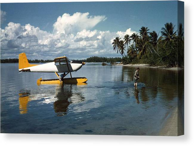 People Canvas Print featuring the photograph Arriving In Style by Slim Aarons