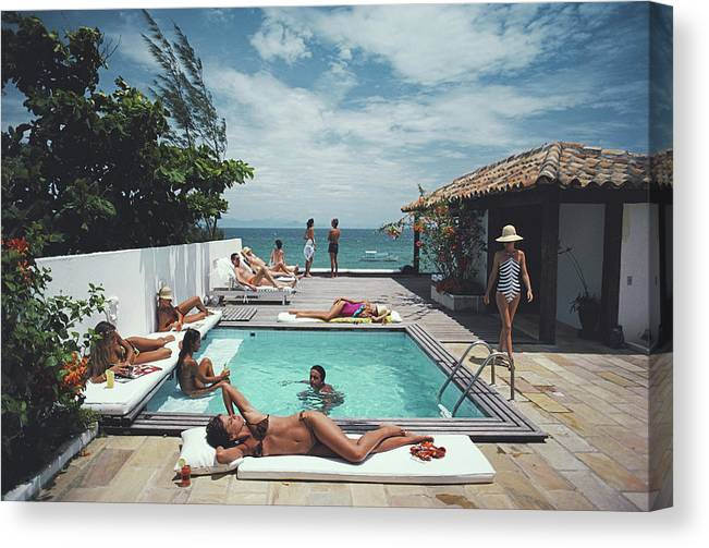 People Canvas Print featuring the photograph Buzios by Slim Aarons