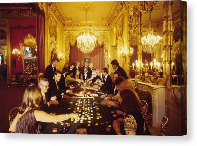 Baden-baden Canvas Print featuring the photograph Casino Life by Slim Aarons