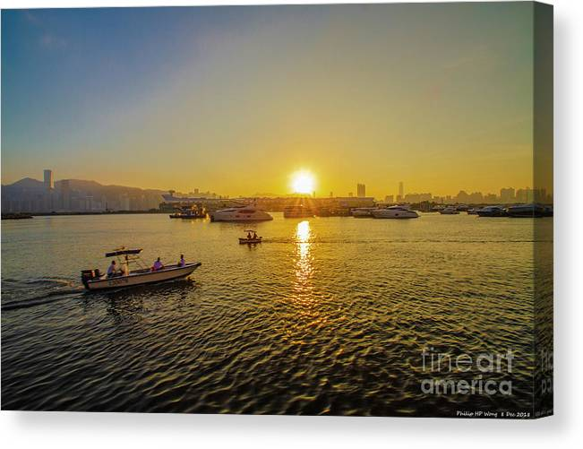 Sun Canvas Print featuring the photograph Homing by Philip