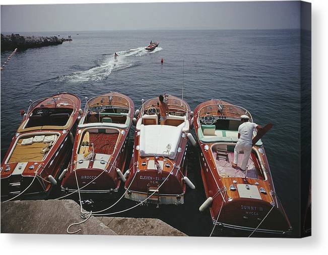 People Canvas Print featuring the photograph Hotel Du Cap-eden-roc by Slim Aarons
