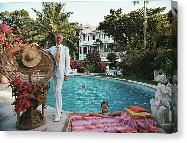 Crowd Canvas Print featuring the photograph Lawrence Peabody II by Slim Aarons