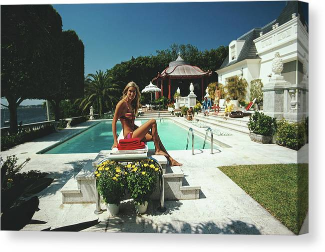 People Canvas Print featuring the photograph Lillian Crawford by Slim Aarons