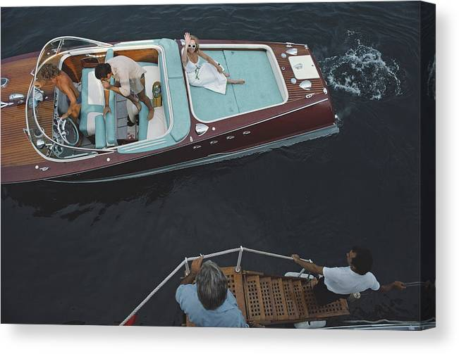 People Canvas Print featuring the photograph Monte Carlo by Slim Aarons