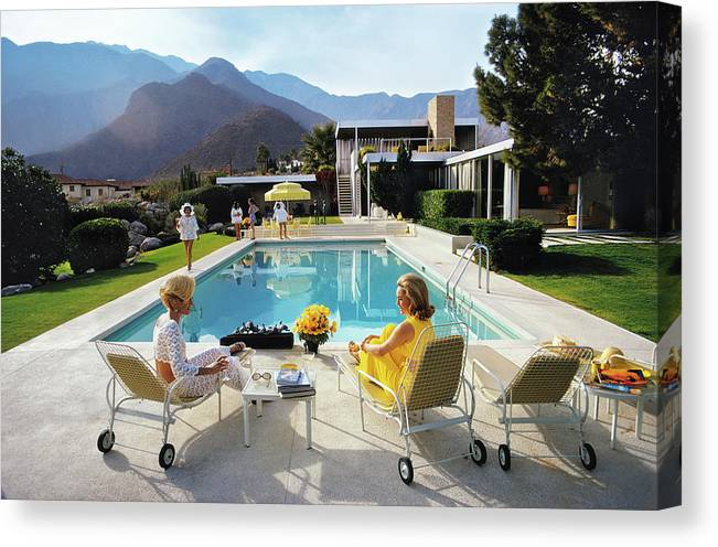 People Canvas Print featuring the photograph Poolside Glamour by Slim Aarons