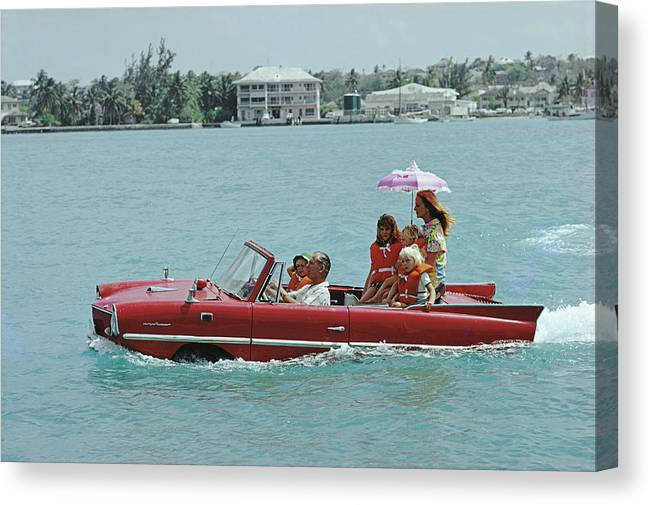 Child Canvas Print featuring the photograph Sea Drive by Slim Aarons